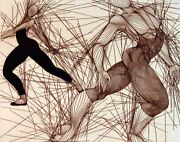 Guillaume Azoulay Dance In The Making Suite Of 4 Hand Signed Original Etchings