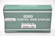 Bostitch Sx5035 3/8d Div. Point Staple Galv. 1 Case Of 16 Boxes Made By Zeb