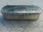 Outrageous Nathaniel Mills Antique Sterling Silver Snuff Box Custom Commission