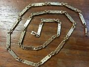 Vintage 18k Yellow Gold Necklace 18 Custom Hand Made Weight 19 Grams