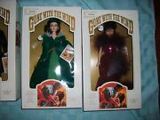 Lot Of 2 Gone With The Wind Scarlett Red Dress And Drapery Dress 1989 World Doll