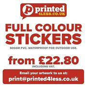 Outdoor Stickers Printed Full Colour Flyers Address Labels A8 A7 A6 A5 A4 Circle