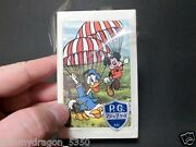 Walt Disney Nintendo Playing Card Vtg New Old Stock Micky And Donald Duck Deck