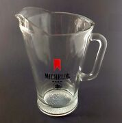 Vintage Michelob Heavy Glass Beer Pitcher Bar Ware Advertising Man Cave