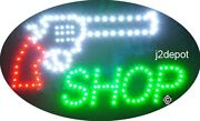 Us Seller Animated Gun Shop Led Sign Neon Lighted. Video Inside. 21x13-1/2