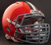 Cleveland Browns Nfl Riddell Speed Football Helmet With Big Grill S2bdc-ht-lw