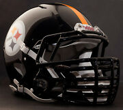 Pittsburgh Steelers Nfl Riddell Speed Football Helmet With Big Grill S2bdc-ht-lw