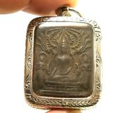 Lp Boon Lord Buddha And 2 Disciples Thai Healing Amulet Long Healthy Life Pendant