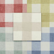 Gingham Check Oilcloth Wipe Clean Pvc Tablecloth All Sizes Colours And Designs