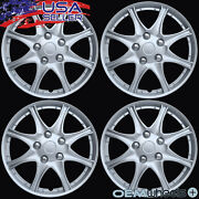 4 New Oem Silver 16 Hubcaps Fits Nissan Suv Car Abs Center Wheel Covers Set
