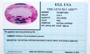 0.48ct Pink Sapphire Natural Oval Appraised Value 695.00 Includes Id Card