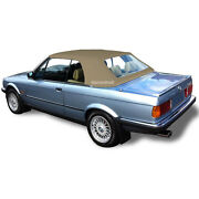 Bmw E30 Convertible Soft Top And Plastic Window 3 Series 1986-1993 Tan German