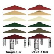 New 10and039x10and039 Replacement Canopy Top Patio Pavilion Gazebo Tent Sunshade Cover Uv+
