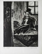 Zestivo Original Etching, Charlie Mccarthy 1938 — Signed, Dated And Numbered