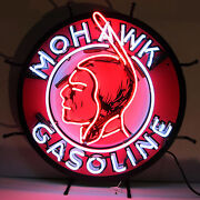 Mohawk Gasoline Neon Sign - Mohawk Petroleum Corp. - Oil And Gas Station - Indian