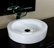 Bathroom Ceramic Vessel Sink With Oil Rubbed Bronze Faucet And Drain 7770e04