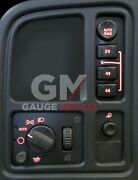 Left Dash Switches Bulb To Red Led Upgrade Kit For Gm Trucks And Suvand039s 2003-2006