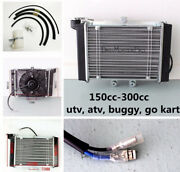 Engine Radiator + Thermal Cooling Fan For Atv Quad Bike Buggy 200ccc 30cc Atomik