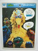 Vtg. 1976 Whitman Sesame Street Muppets More Friends Frame-tray Puzzle 12 Pc.