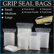 Grip Seal Bags Clear Resealable Plastic Polythene Cheapest Gripseals