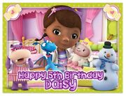 Doc Mcstuffins Birthday Edible Image Cake Topper Personalized Frosting Sheet Ice