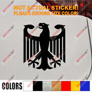 Germany German Flag Coat Of Arms Eagle Car Bumper Sticker Decal