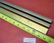 3 Pieces 1/2 X 1 C360 Brass Flat Bar 14 Long Solid Mill Stock H02 .50x 1.00