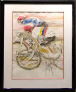 Nelson Bicycle Original Watercolor Painting On Paper Artwork Art Make Offer