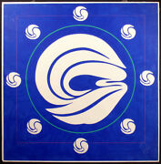 Jack Youngerman Mandala Blue Signed And Numbered Silkscreen Pochoir And Intaglio