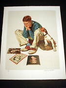 Norman Rockwell Original Lithograph Hand Signed Starstruck 3/200