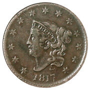 1817 N-1 R-4 Ncs Xf Details Matron Or Coronet Head Large Cent Coin 1c