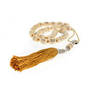 Greek Worry Beads - Handmade Camel Bone - Pure Silk And 925 Sterling Silver Parts