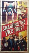 Large 1930s Movie Poster Smashing The Vice Trust Gangsters