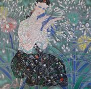 Tie Feng Jiang Morning Flowers Hand Signed Serigraph Yunnan Chinese Artist 铁丰机盎