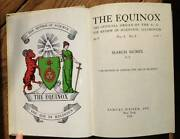 The Equinox The Official Organ Of The A. A.- 1974 Books On Collecting