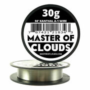 50 Ft - 30 Gauge Awg A1 Kanthal Round Wire 0.25mm Resistance A-1 30g Ga 50and039
