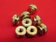 New 1930and039s Style Spark Plugs Knurl Nuts Brass Fits Modern Spark Plugs A12
