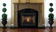 Superior Pro Series 35 Direct Vent Gas Fireplace Top/rear Combo Front View