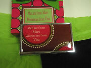 Business/card Holders Engraved Metal Funny Sayings New In Gift Box Free Shipping