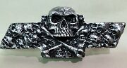 Chevy S10/blazer Custom Skull Emblem - Brushed Silver By Sloan Product