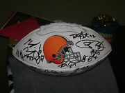2014 Cleveland Browns Signed Team Logo Football Isaiah Crowell Justin Gilbert