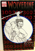 Wolverine 300 Sketched Blank Variant Of Spiderman 300 Signed By Todd Mcfarlane