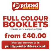 Brochures Booklets Printed Full Colour Order Of Service Folded A4 A5 170 250 Gsm