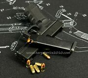 13 Scale Keychan G-17 Shell Eject And Extra Cnc 10 Dummy 2 Tone Color Bullets