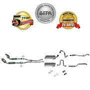 2003-2006 Lincoln Town Car Dual Muffler Exhaust System With Catalytic Converters