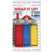 Wrap It Up Hook And Loops Latches Cords Dock Line Hoses Ski/wakeboard Rope 3 Pack