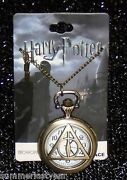 Harry Potter Deathly Hallows Pocket Watch With Necklace Warner Bros.free Ship