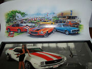 Snap-on Camaro Wall Clock And Lithograph Camaro Ss Limited Edition Signed Poster