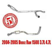 Fits Dodge Ram 1500 3.7l 4.7l 2004-2005 Left And Right Catalytic Converter