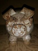 Artisan Handmade Clay Pottery Pig Original Ungvay Sculpture 1974 Signed